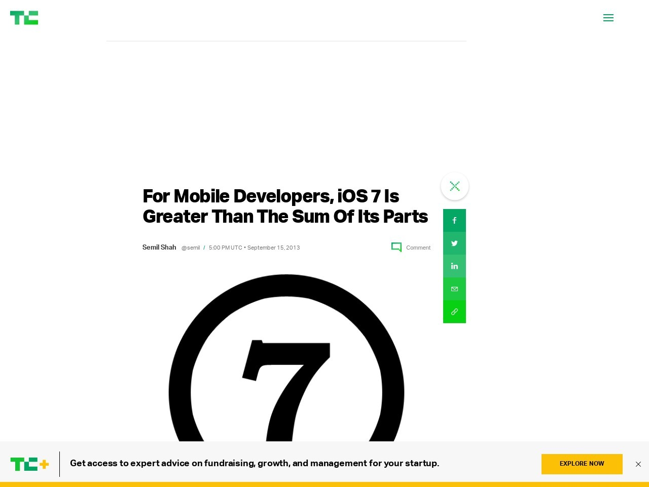 For Mobile Developers, iOS 7 Is Greater Than The Sum Of Its Parts …