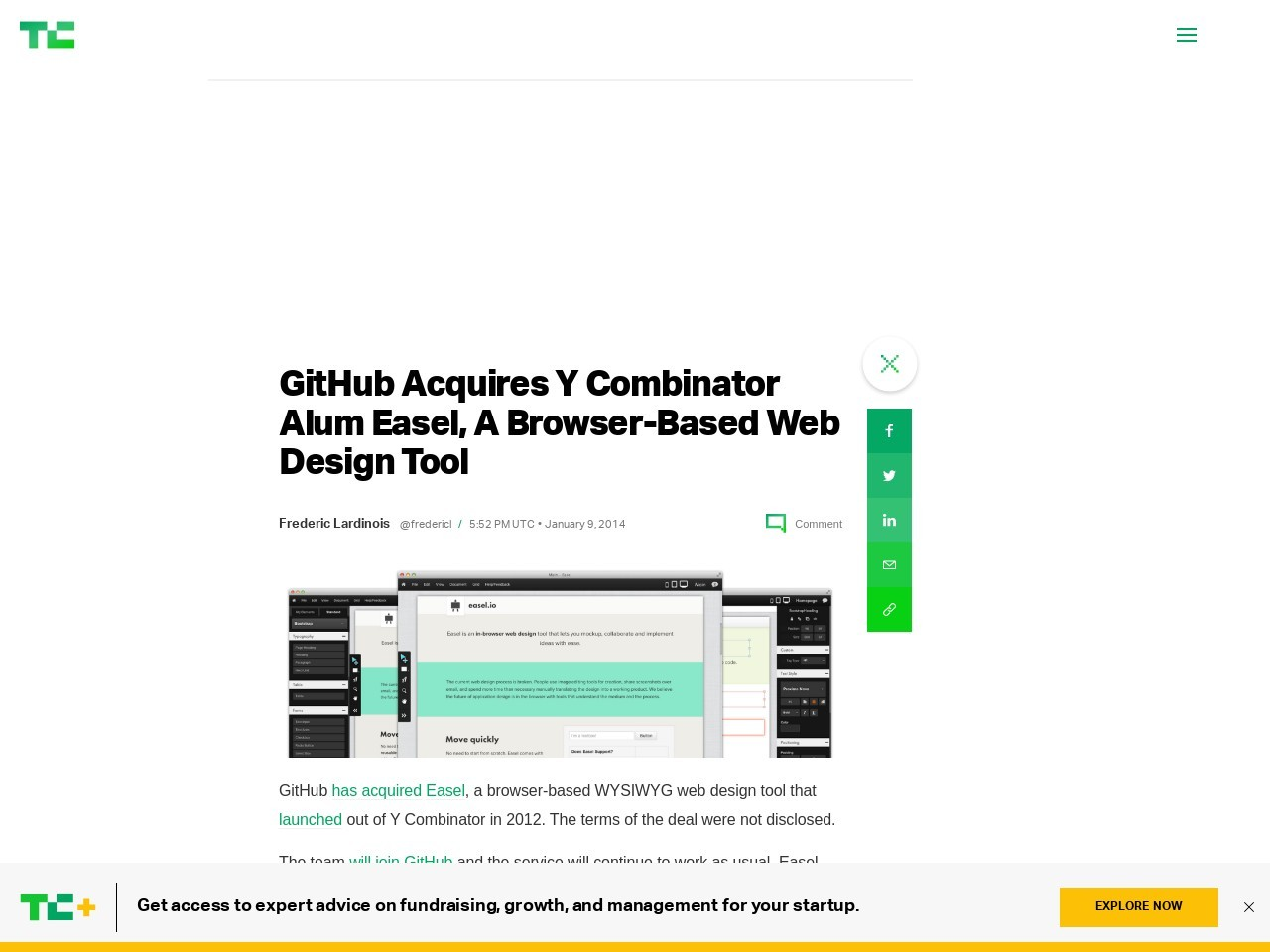 GitHub Acquires Y Combinator Alum Easel, A Browser-Based Web Design Tool