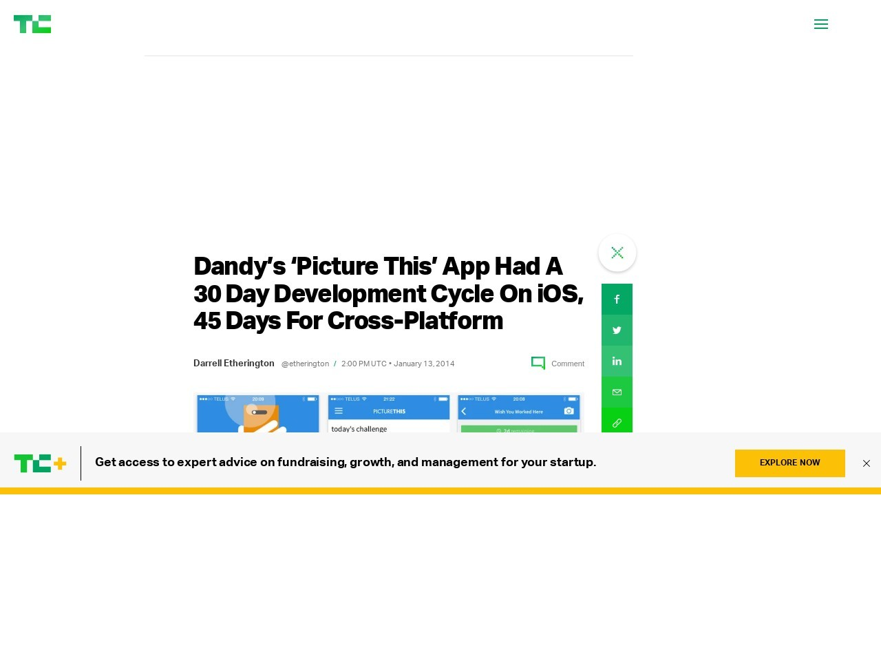 Dandy's 'Picture This' App Had A 30 Day Development Cycle On iOS …