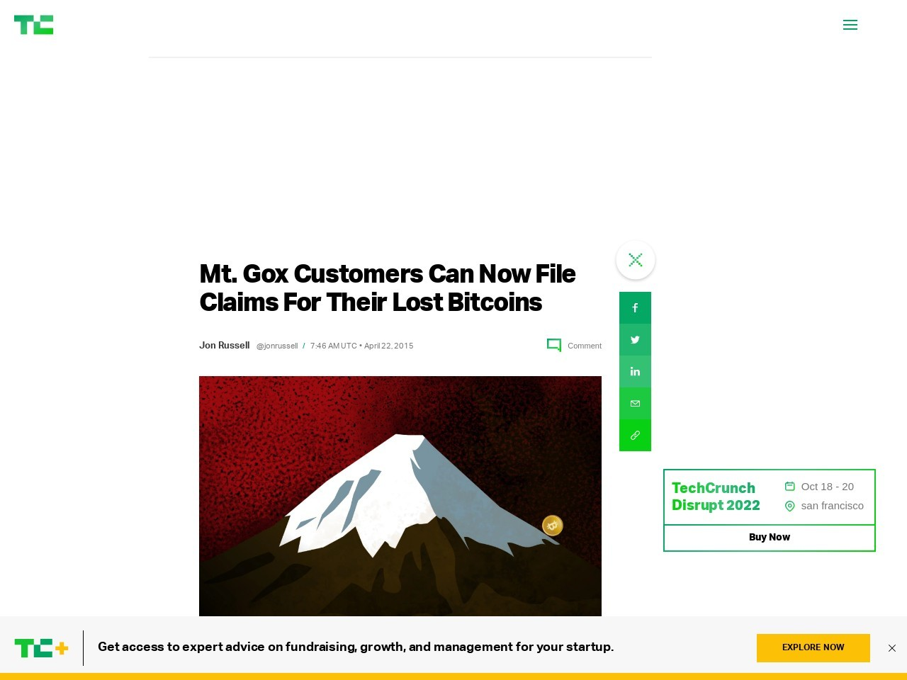 Mt. Gox Customers Can Now File Claims For Their Lost ...