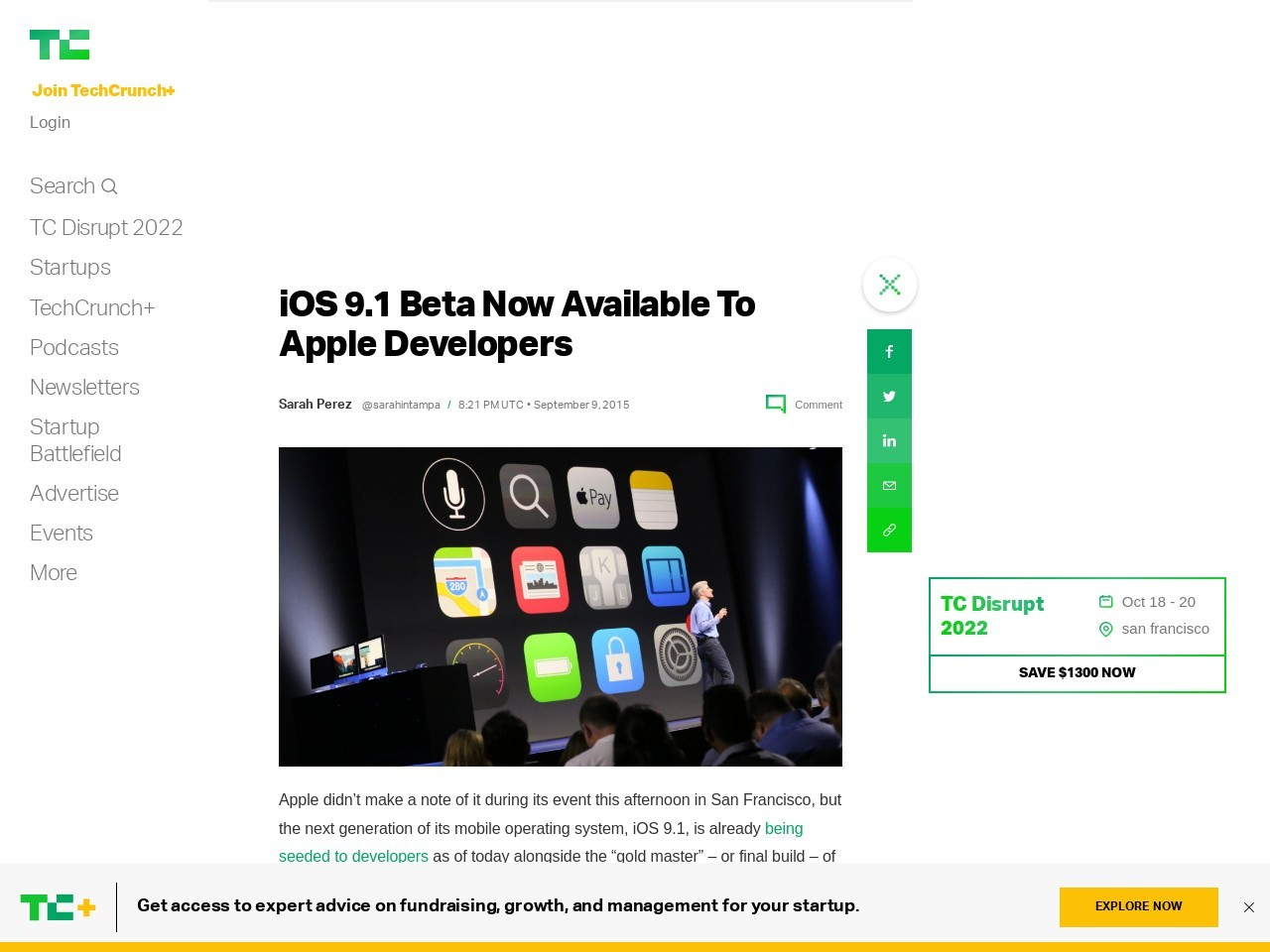 iOS 9.1 Beta Now Available To Apple Developers …