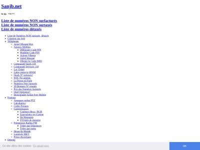 Liste de numéros non surtaxés - Sanjb.net