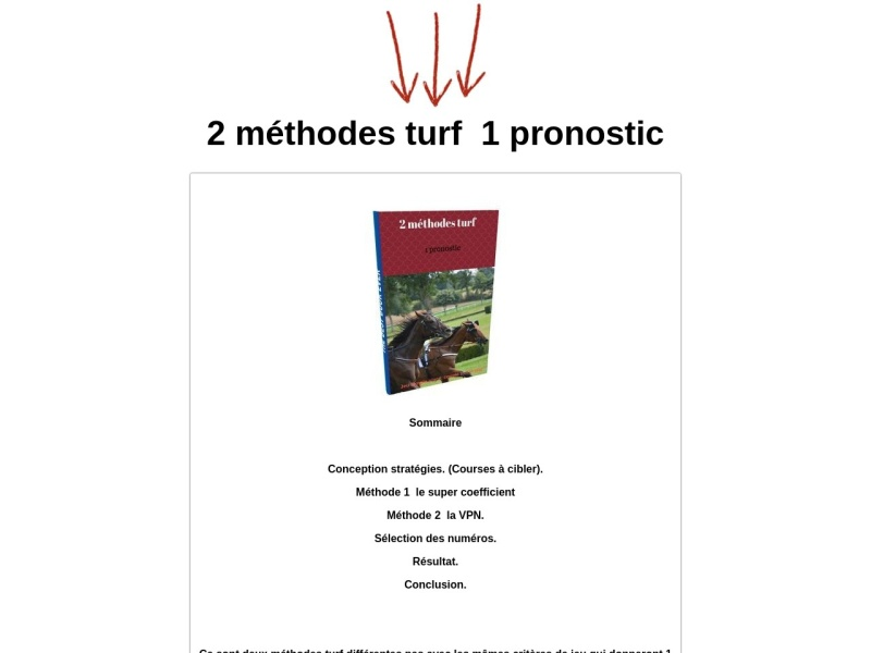 2 methode turf 1pronostic