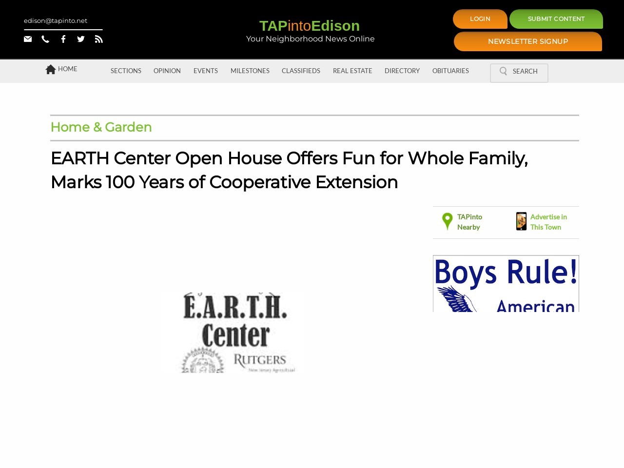 EARTH Center Open House Offers Fun for Whole Family, Marks 100 Years of …