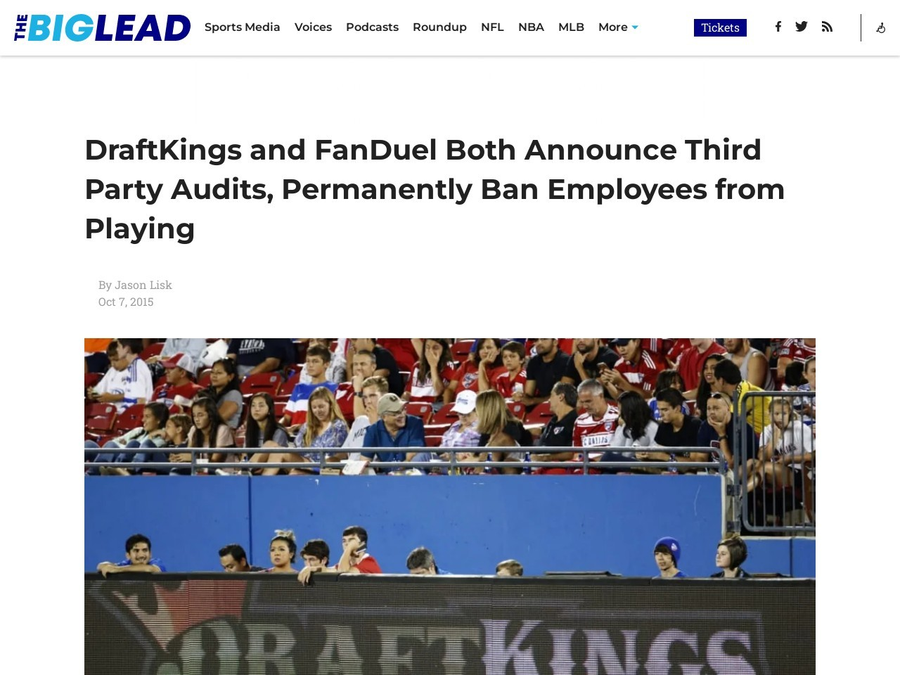 DraftKings and FanDuel Both Announce Third Party Audits
