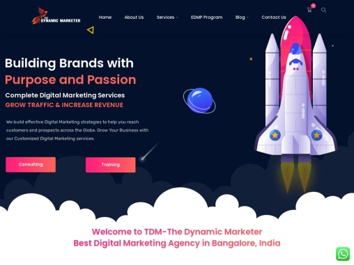 Startup Digital Marketing Executive Program Koramangala, Bangalore – The Dynamic Marketer – Best Dig