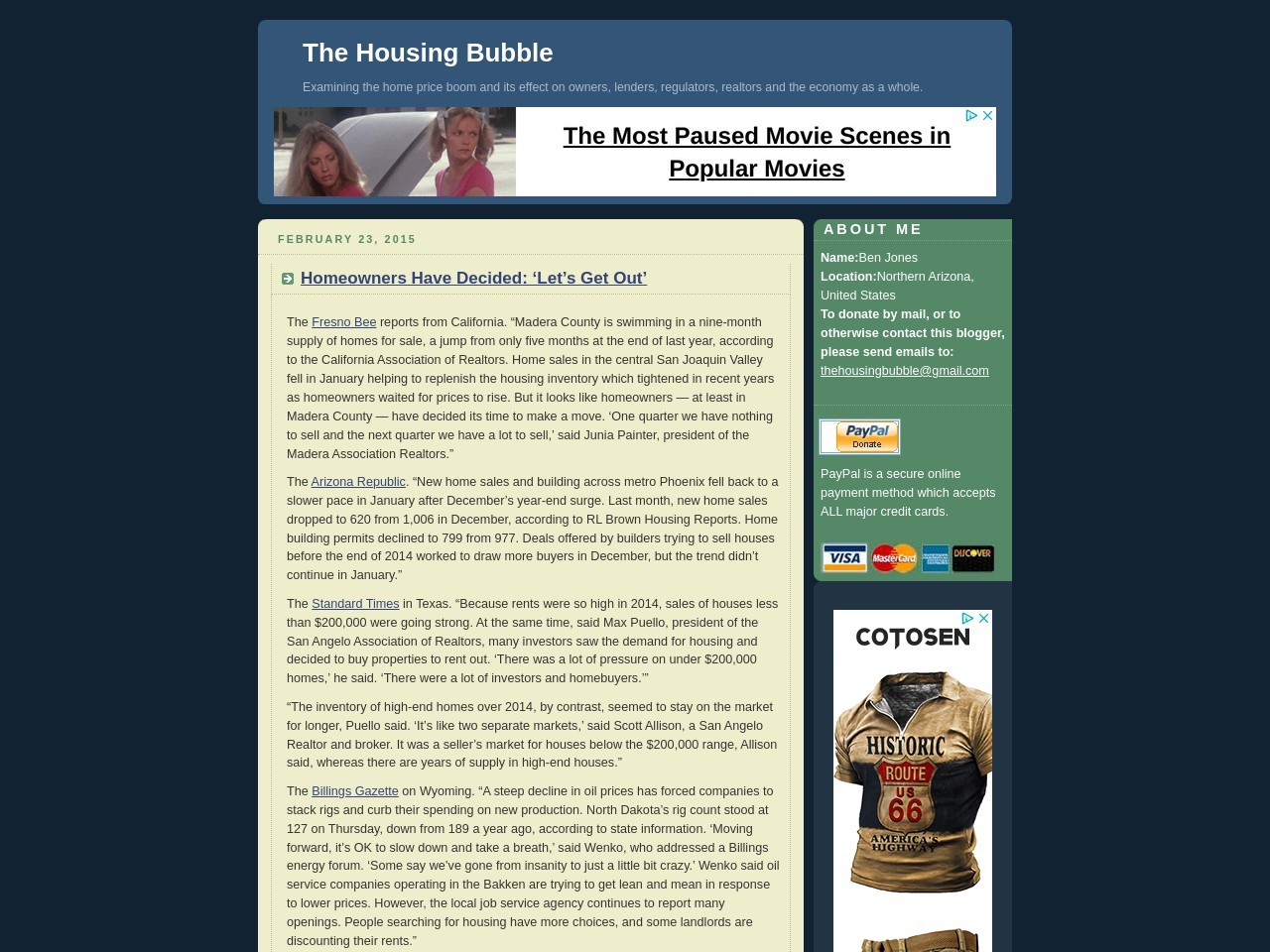 The Housing Bubble Blog » Homeowners Have Decided …