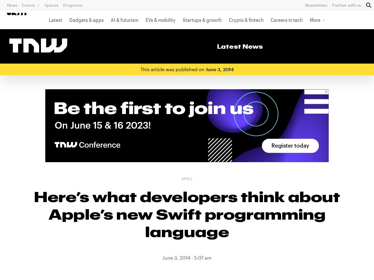 Here's what developers think about Apple's new Swift …