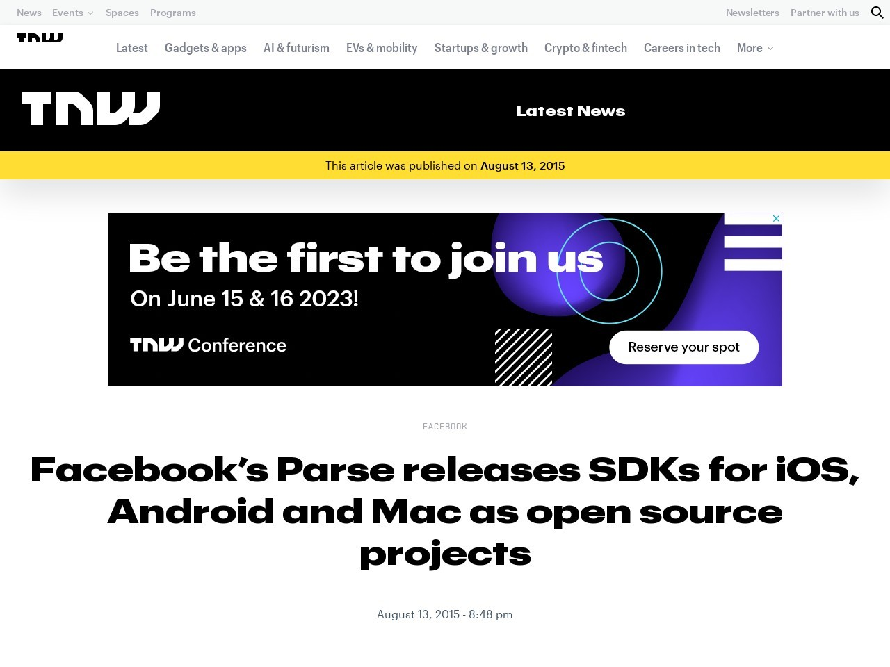 Facebook's Parse releases SDKs for iOS, Android and Mac …