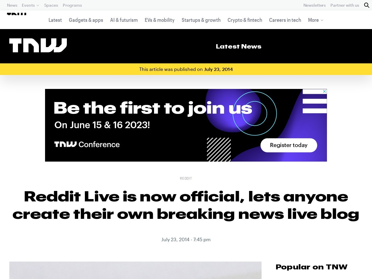 Reddit Live is now official, lets anyone create their own breaking news live blog
