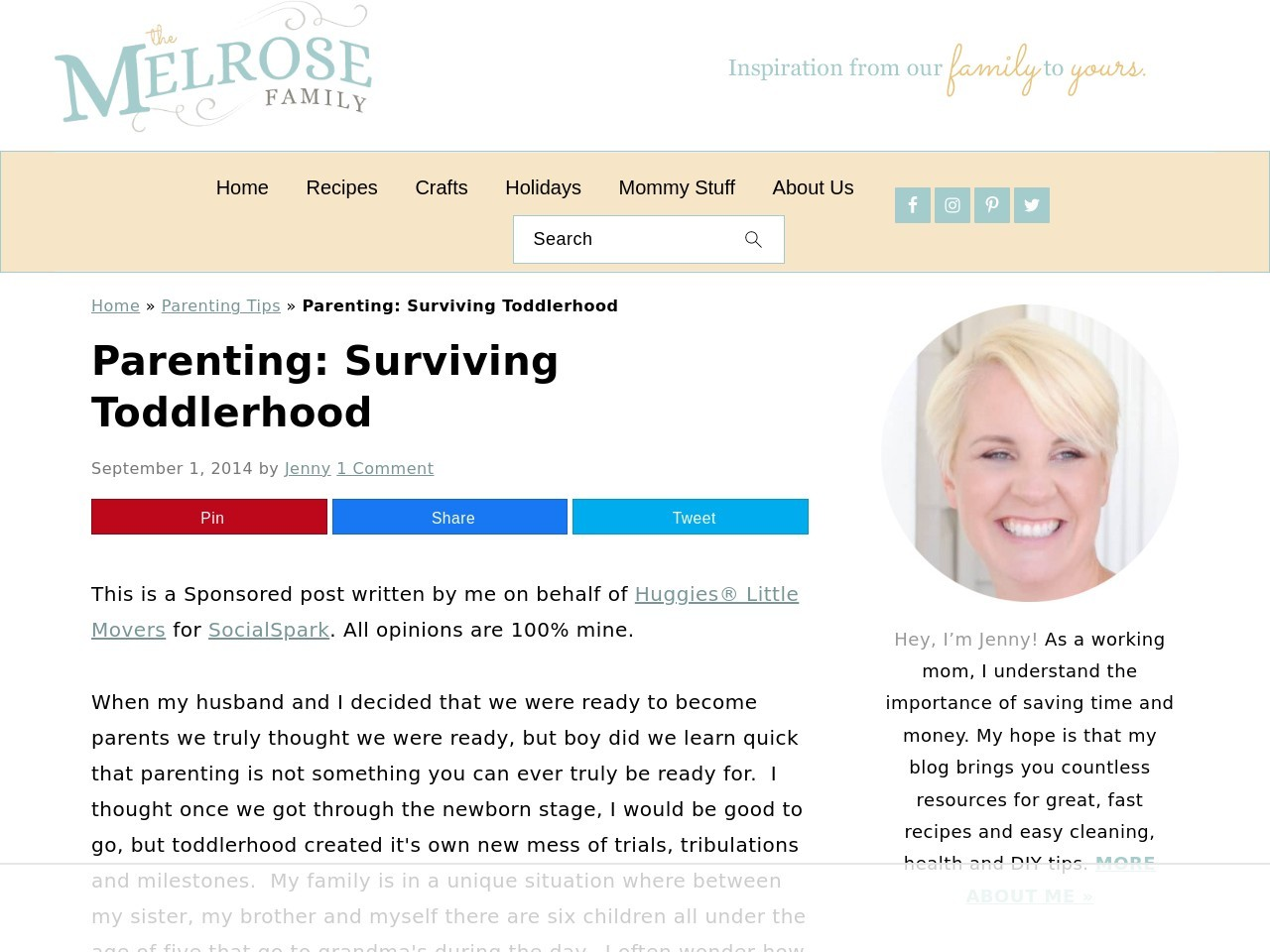 Parenting: Surviving Toddlerhood | The NY Melrose Family