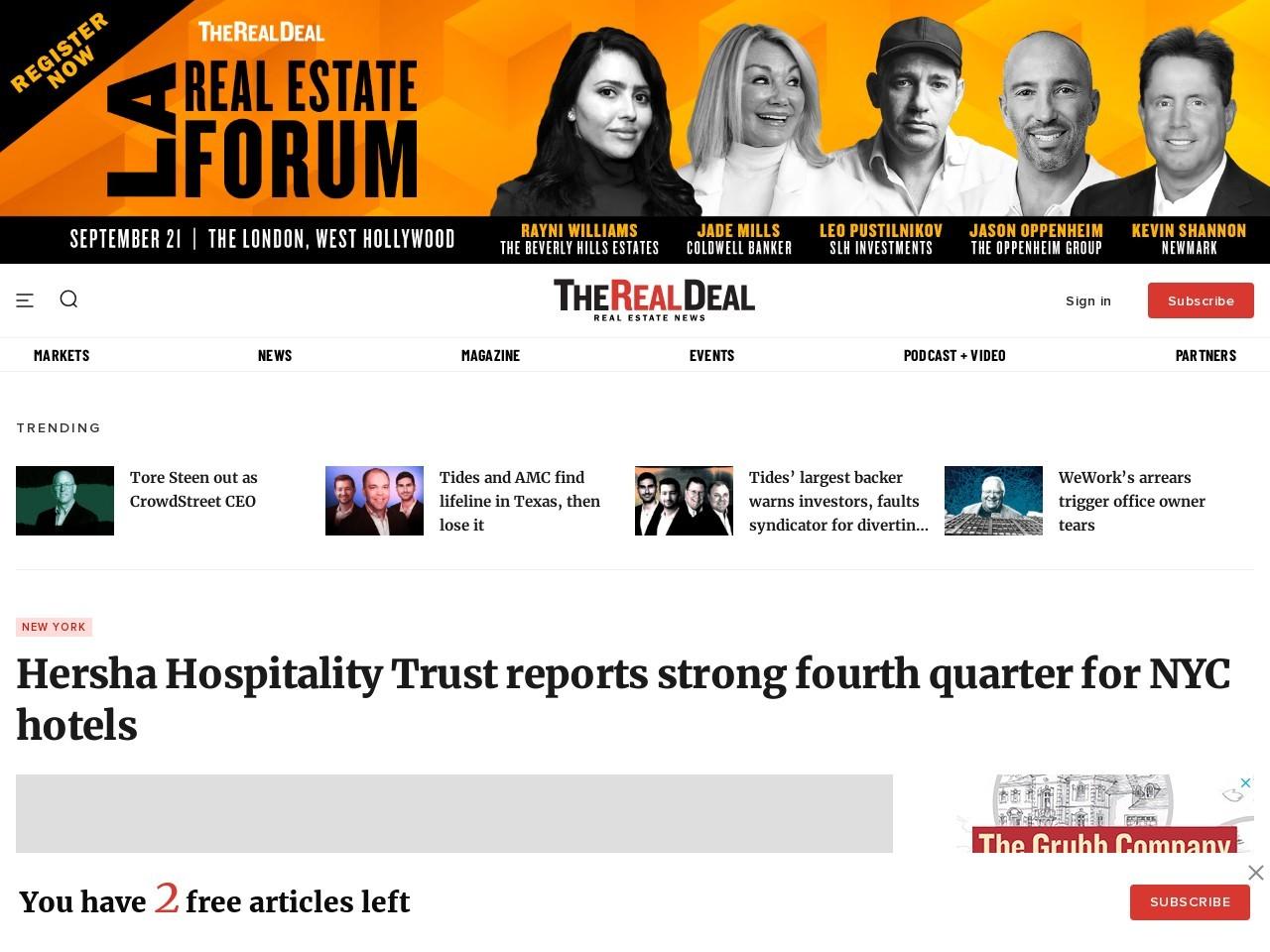 Hersha Hospitality Trust | Hurricane Sandy 2012