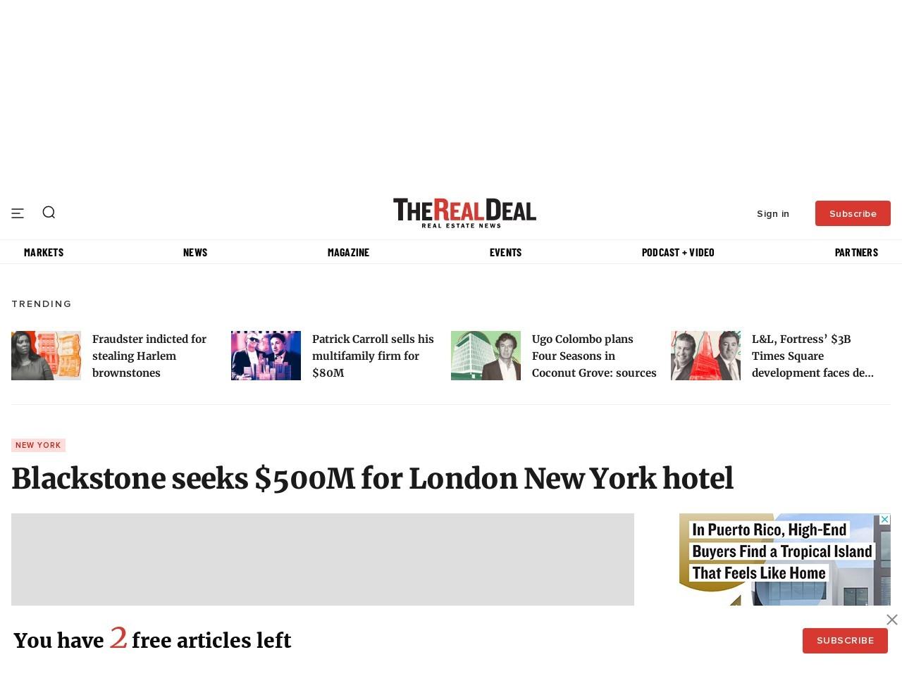 Blackstone | London Hotel | 151 West 54th Street