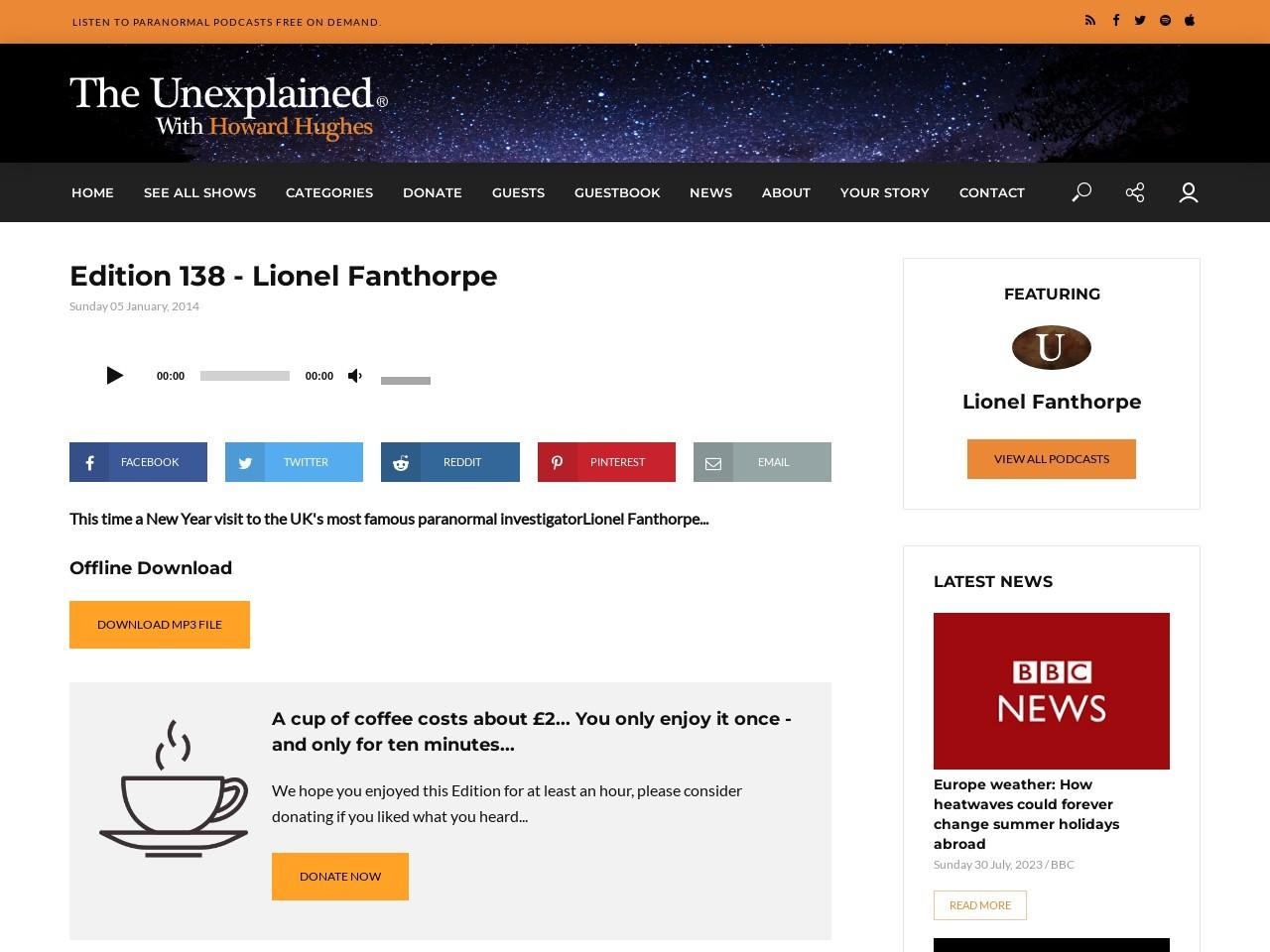 Edition 138 – Lionel Fanthorpe