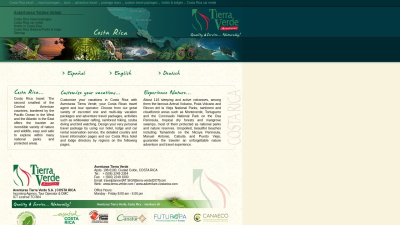 tierra-verde.com Vorschau, Aventuras Tierra Verde S.A.