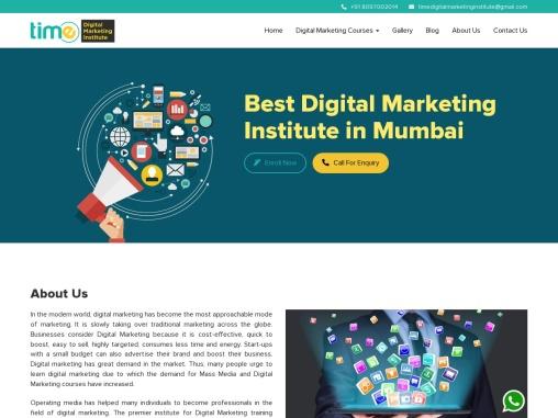 Time Digital Marketing Training Institute & Course in Mumbai, India