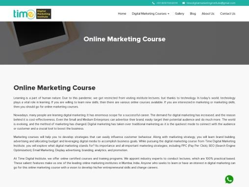 Online Marketing Course & Institute in Mumbai, India – Time Digital