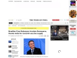Brazilian Prez Bolsonaro invokes Ramayana, thanks India for Covid-19 vaccine supply