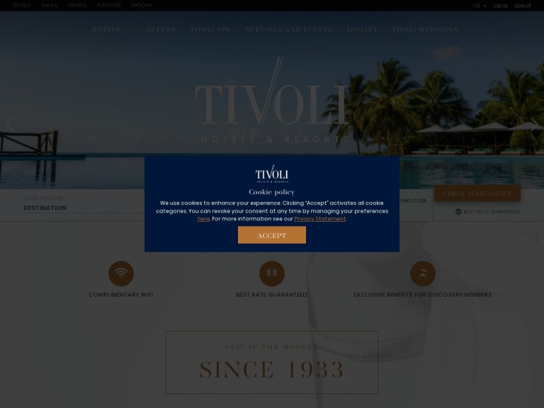 Tivoli Hotels screenshot
