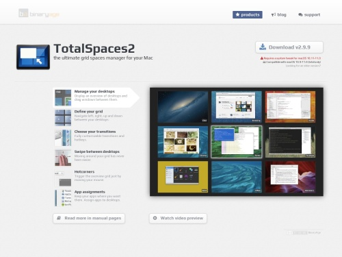 TotalSpaces app brings back grid Spaces to OS X Lion and more!