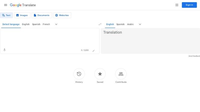translate.google.com Vorschau, Google Übersetzer