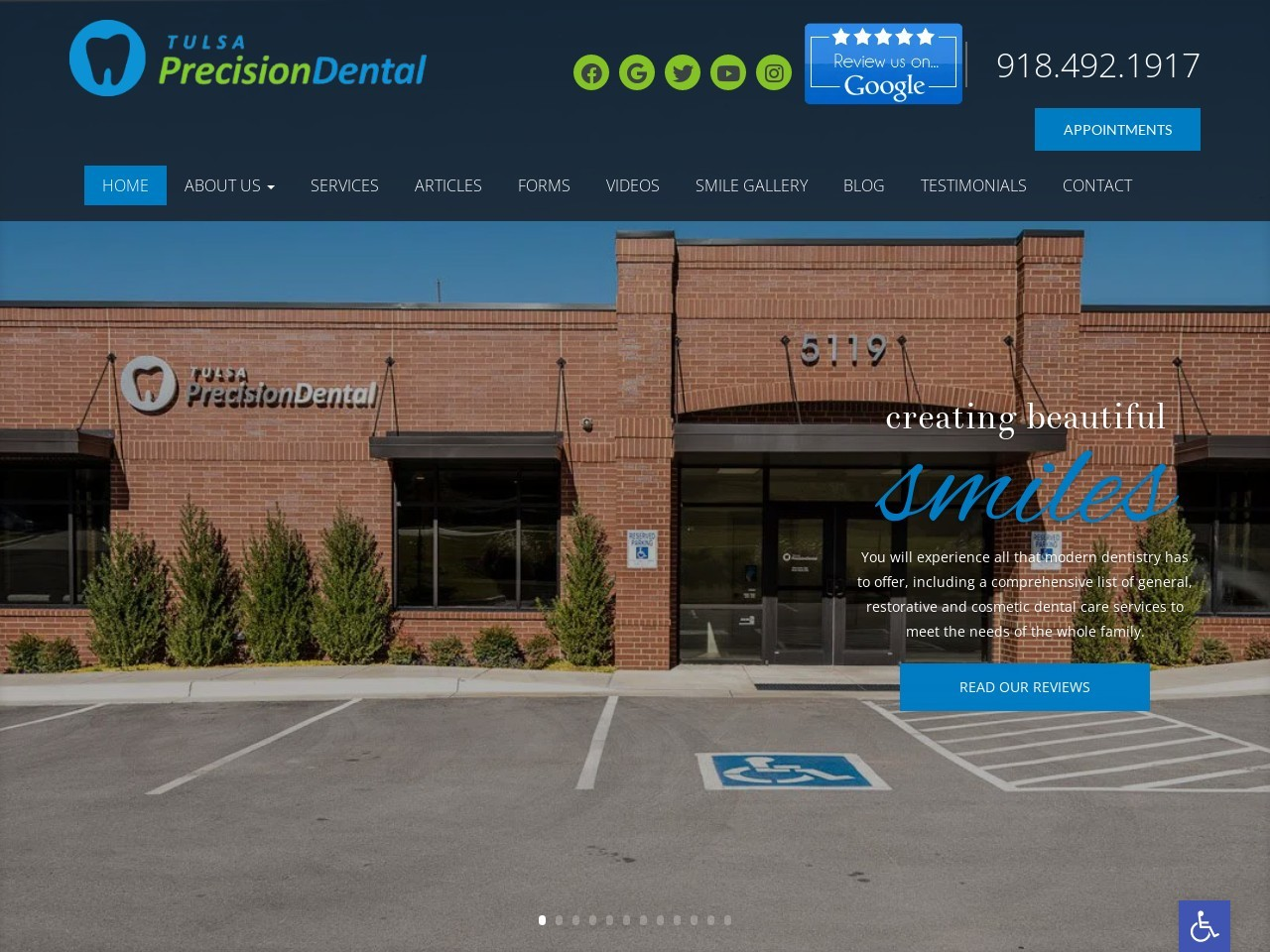 tulsaprecisiondental.com screenshot