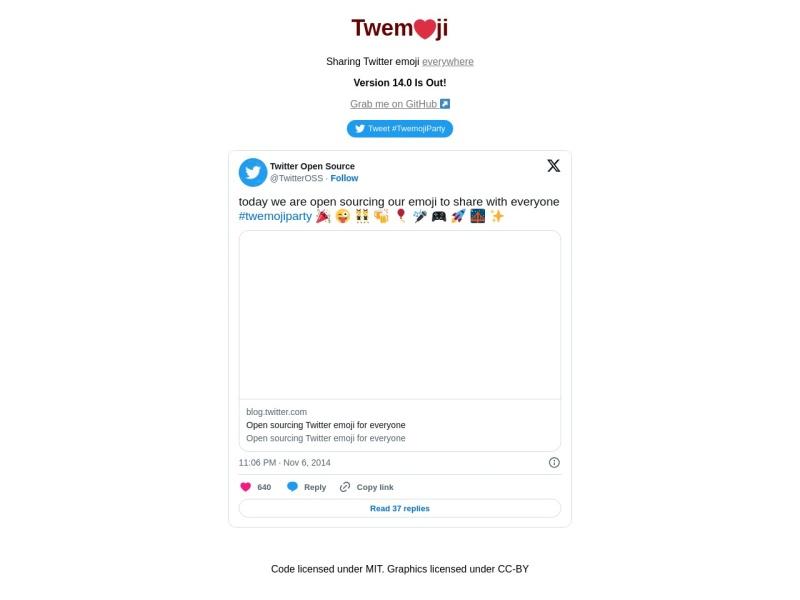 Twitter Emoji (Twemoji) | Twitterが提供する絵文字のオープンソースライブラリ