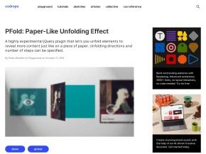 PFold: Paper-Like Unfolding Effect | Codrops