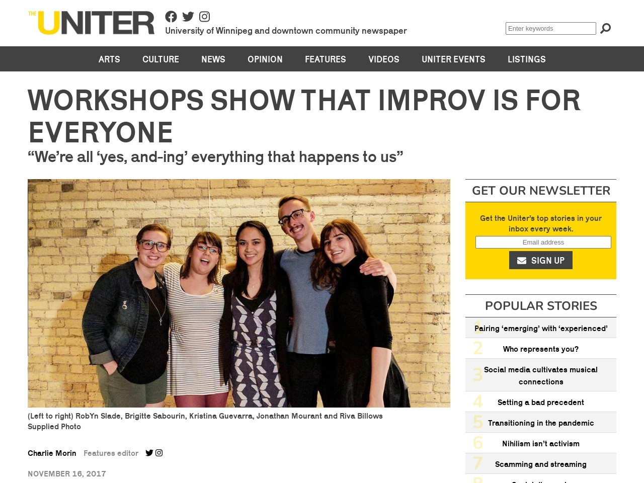 Workshops show that improv is for everyone