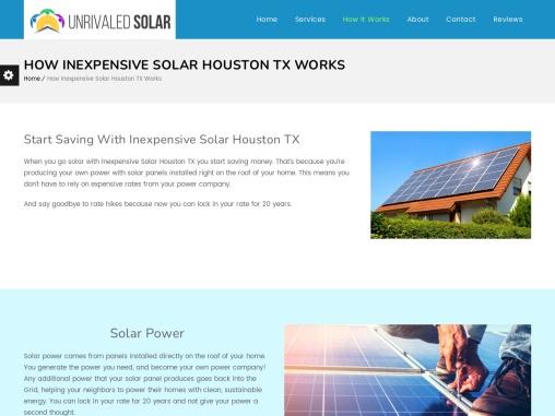 Inexpensive Solar Houston TX | Cheap Solar Houston TX