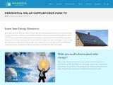Residential Solar Supplier Deer Park TX | Residential Solar Supplier Baytown TX