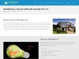 Residential Solar Supplier League City TX | Cheap Solar Houston TX