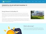 Residential Solar Supplier Pasadena TX | Cheap Solar Houston TX