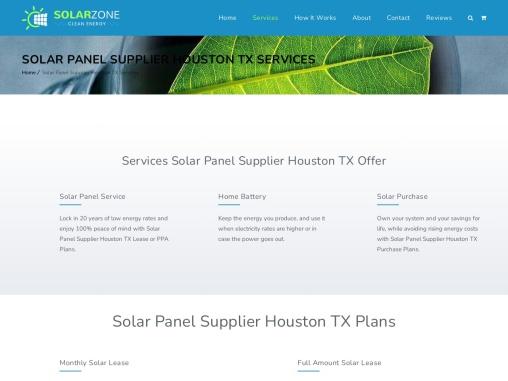 Residential Solar Supplier Houston TX