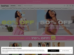 Boohoo.com screenshot