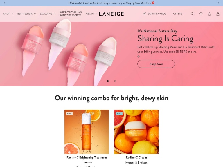 Laneige screenshot