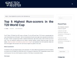Top 5 Highest Run-scorers in the T20 World Cup