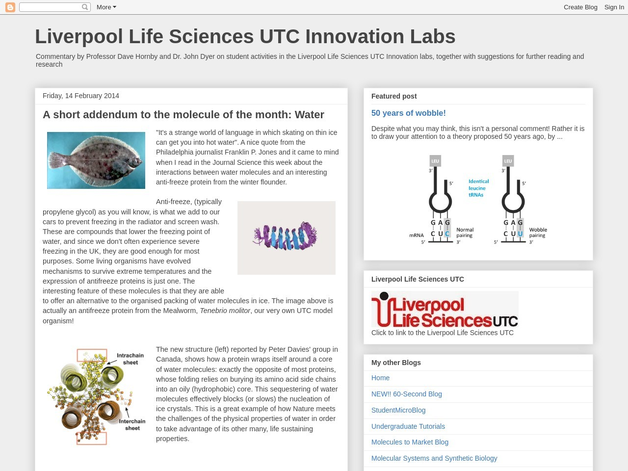 A short addendum to the molecule of the month – Liverpool Life …