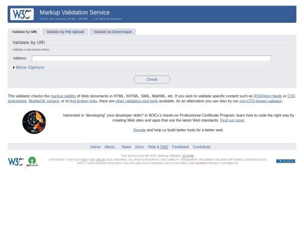 http://validator.w3.org/