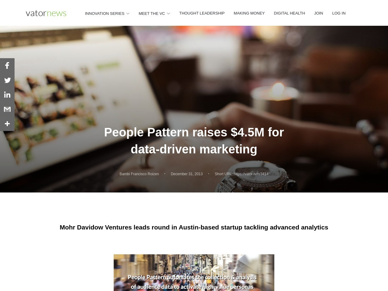 People Pattern raises $4.5M for data-driven marketing