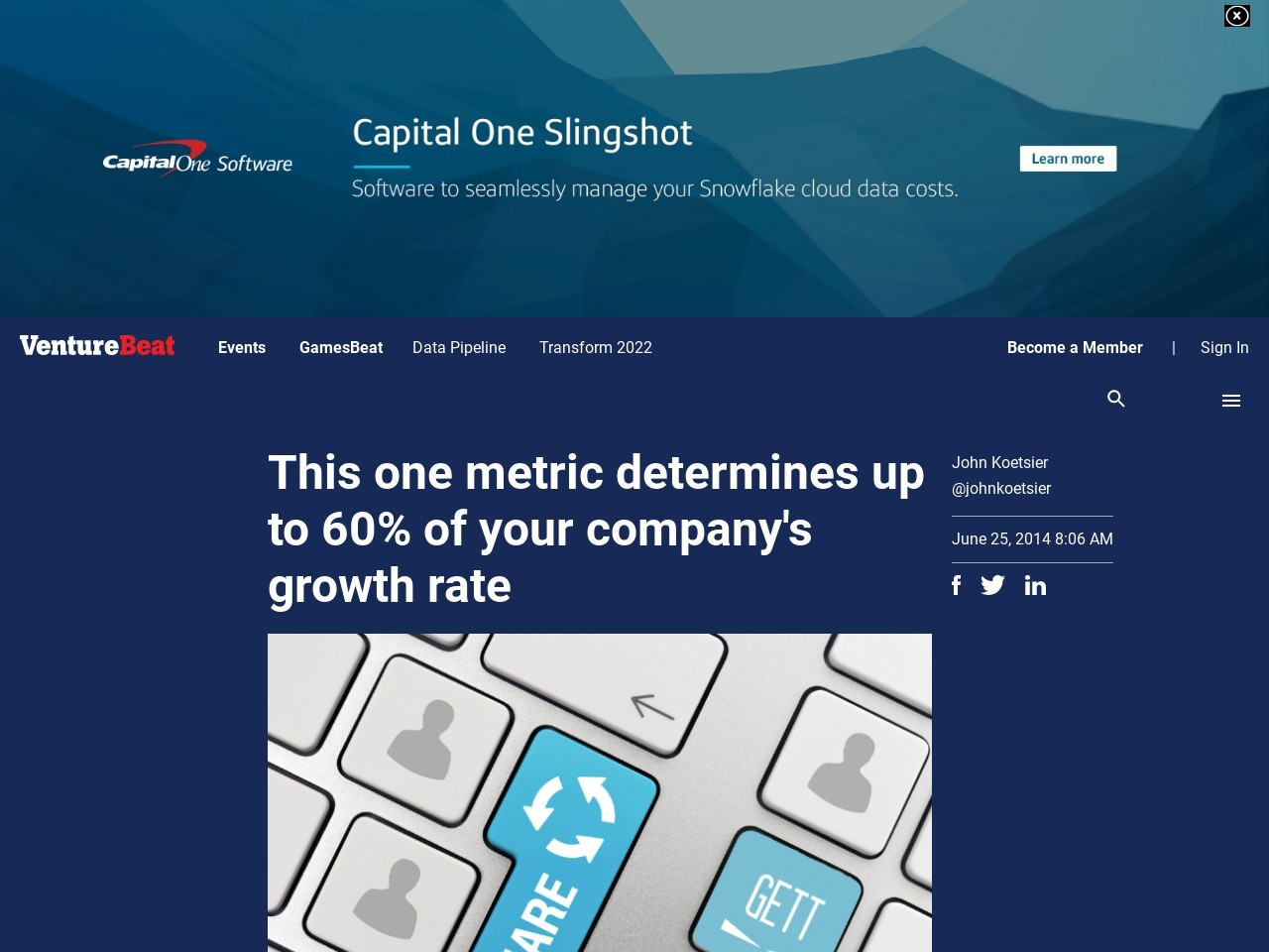 This one metric determines up to 60% of your company's growth rate