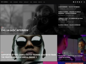 VFX Serbia using the Further WordPress Theme