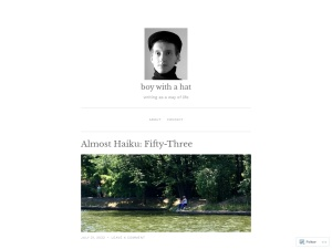 boy with a hat using the Manifest WordPress Theme