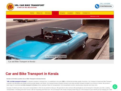 Top Car and Bike Transport in Kerala