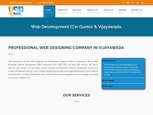 VSP Innovations Offering world class dynamic web development services in Vijayawada.