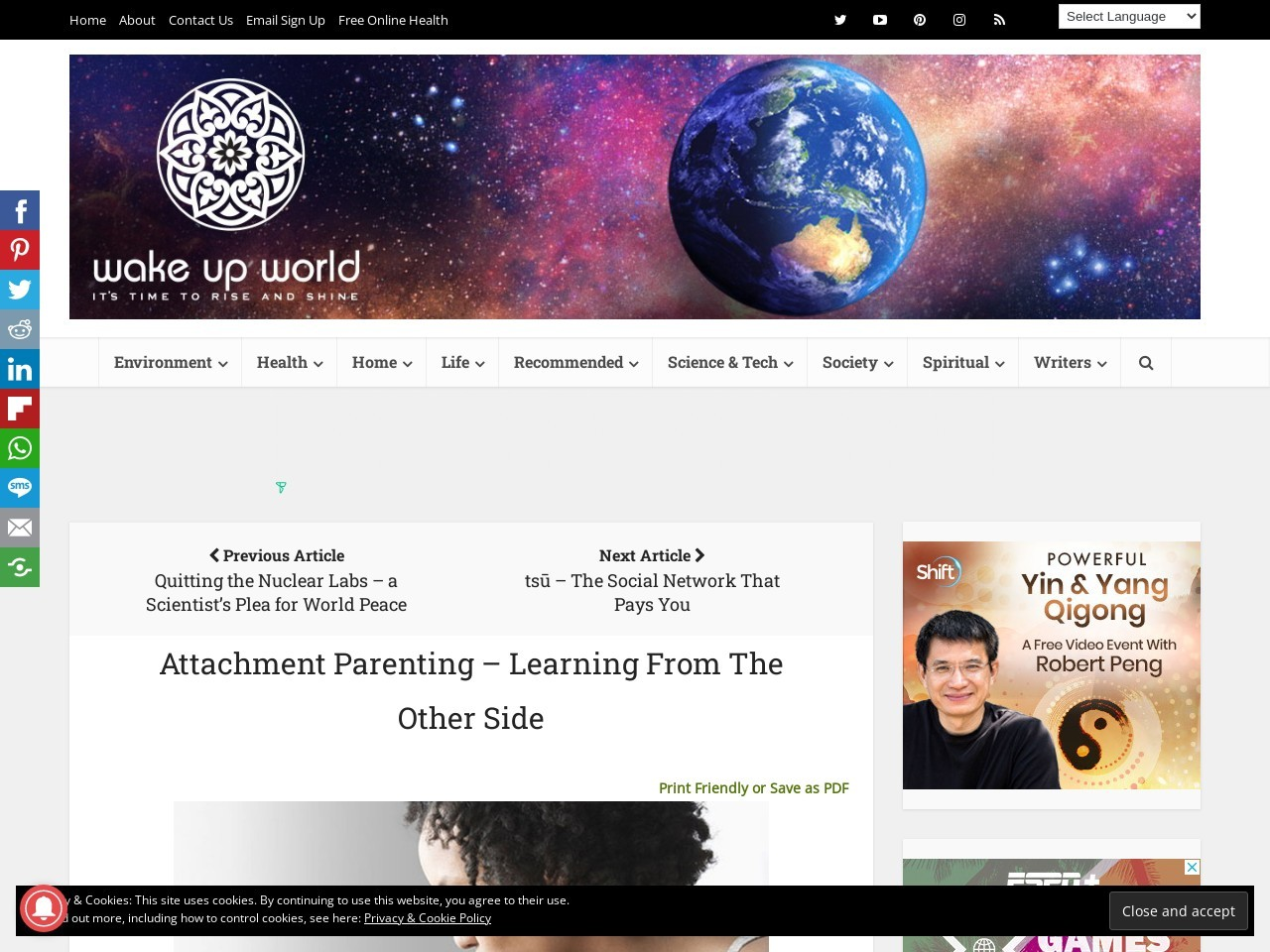 Attachment Parenting – Learning From The Other Side …