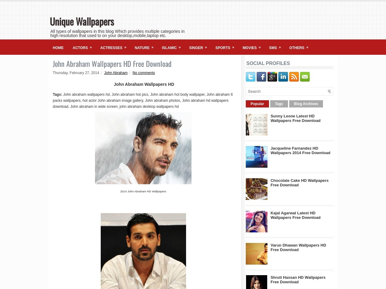 John Abraham Wallpapers HD Free Download ~ Unique Wallpapers