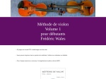 METHODE DE VIOLON VOLUME 1 POUR DEBUTANTS