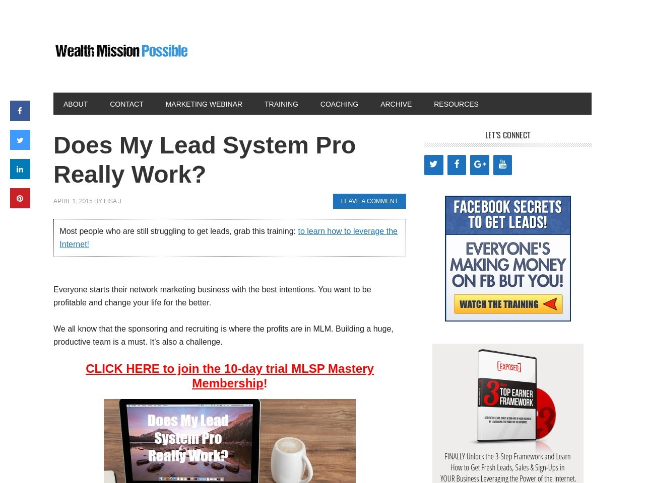 Does My Lead System Pro Really Work?