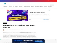 10 Free Clean and Minimal WordPress Themes